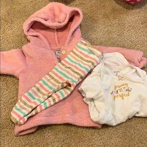 3 pc hoodie onsie and leggings